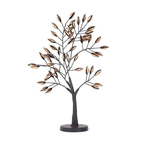 WUNDERSCHÖNE Design DEKO Figur Albero | 56 cm, Metall, braun | Baum Skulptur