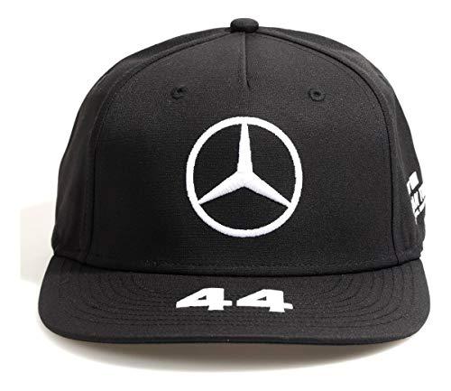 Mercedes-AMG Petronas Unisex Lewis Flat Cap Baseballkappe, Schwarz, One Size