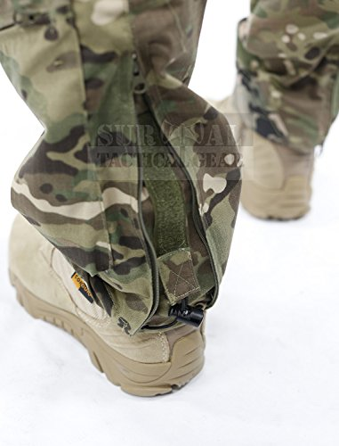 Survival Tactical Gear Men's Airsoft Wargame Tactical Pants with Knee Protection System & Air Circulation System (Multicam Black Camo, S)