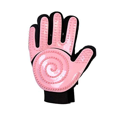 ZHHAOXINPA Vijf Vinger Deshedding Handschoen Rechts Hand Grooming Handschoen met Over Silicone Grooming Tips - Geen Ruwe Metalen Borstels Meer