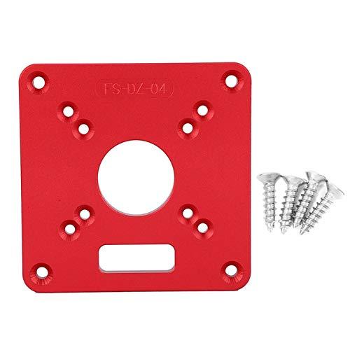 Placa de inserción, mesa de corte universal que ahorra trabajo Placa de inserción, aleación de aluminio para alinear la fresadora con el centro del orificio de perforación