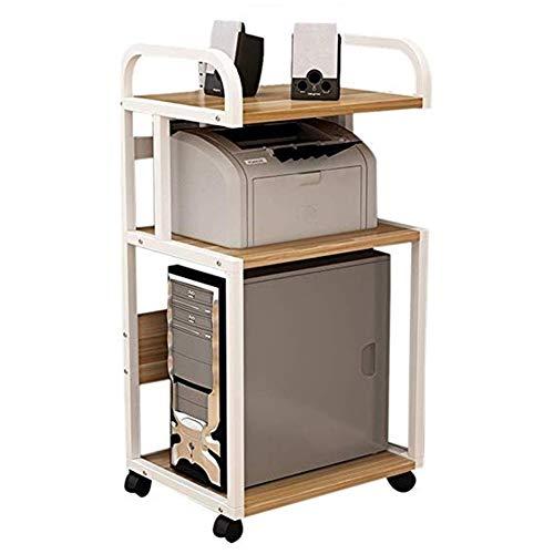 Soporte escritorio para soporte de impresora Oficina Estantería de almacenamiento de Escritorio Gabinete móvil chasis de escritorio del estante del estante de la impresora impresora de fax de la máqui