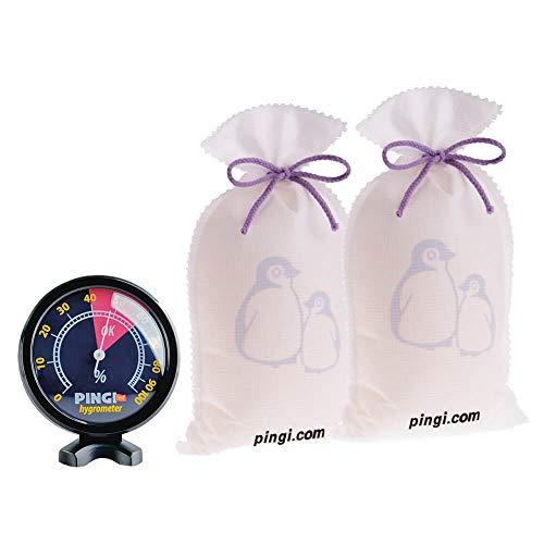 Luftentfeuchter Pingi, immer wiederverwendbar–2Beutel je 500g, inkl. Hygrometer