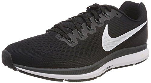 Nike Womens Air Zoom Pegasus 34 Black/White/Dark Grey/Anthracite Running Shoes (6.5)