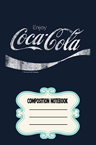 Coca-cola Vintage White Enjoy Logo Graphic DH2FH Notebook: 120 Wide Lined Pages...