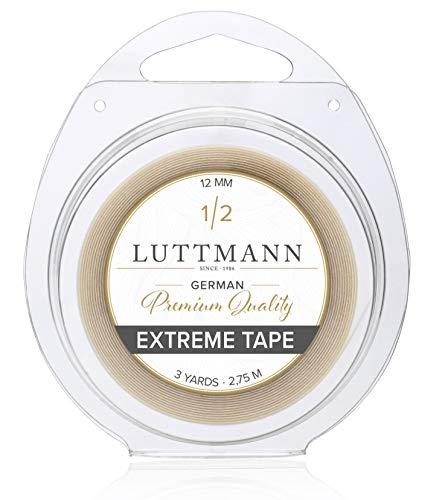 Scopri offerta per LUTTMANN® Extreme Tape - 12 mm Premium Quality Extreme Hold nastro adesivo Lace front trasparente per sistemi di capelli, parti di capelli, parrucche, Toupets & Extensions