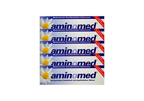 5x 75ml Aminomed bei gereiztem Zahnfleisch & empfindlichen Zähnen Kamillenblüten