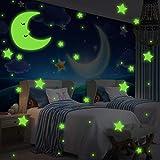Incutex 533x Pegatinas de estrellas fluorescentes autoadhesivas para techo o pared