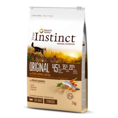 True Instinct Original Pienso para Gato Esterilizado Adulto con Salmón Pack 2 x 7 kg