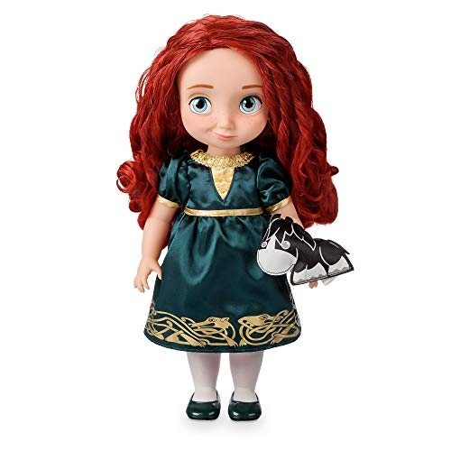 Disney Store Merida Animator Toddler Doll - Brave 39cm 15inches with Realistic Rooted Hair, Outfit, Shoes and Padded Satin Angus Soft Toy - Suitable for Ages 3+