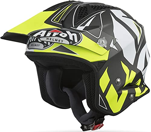 casco moto trial Airoh TRR S CONVERT YELLOW MATT M