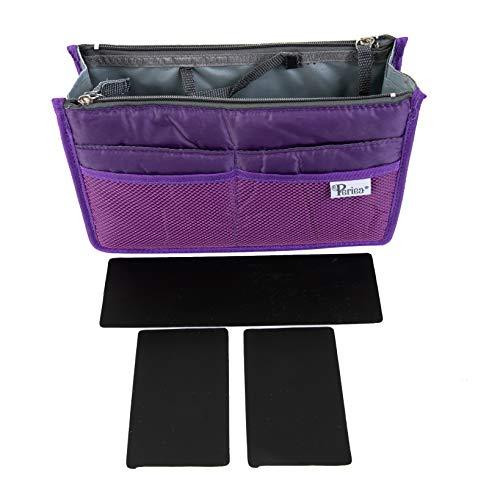 Periea Handtasche Organizer Taschen-Organisator - Chelsy Prämie - 14 Farben verfügbar - klein, mittel oder groß (Lila, Mittel)
