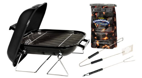 Marsh Allen Grill-It-Kit 30103 14-Inch Tabletop Charcoal Grill with Charcoal
