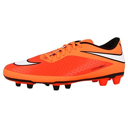 nike hypervenom phade FG pour hommes chaussures de football 599809 crampons de football - Cramoisi/Blanc/Org, 45.5 EU