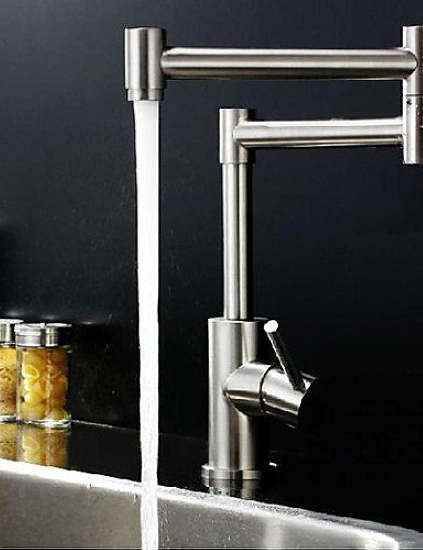 Küchenarmatur Zeitgenssisch Mit ausziehbarer Brause Edelstahl Gebürsteter Nickel
