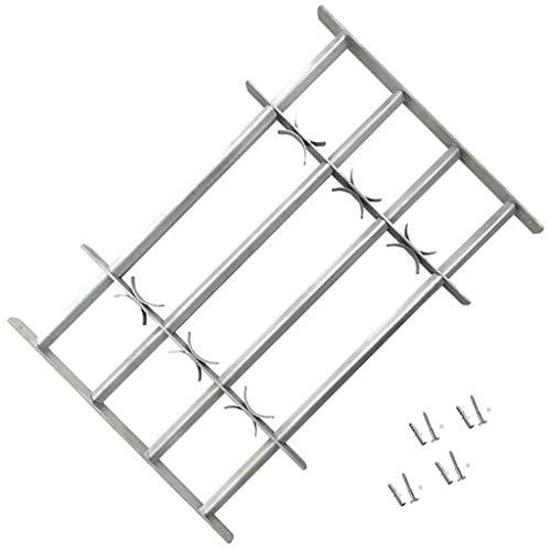 vidaXL Reja de Seguridad para Ventanas Ajustable con 4 Travesaños 500-650 mm
