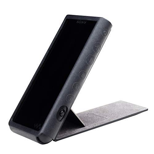 Preisvergleich Produktbild MITER CASE for Sony NW-ZX507 / ZX505 / ZX500 Schutzhülle aus PU-Leder Hülle Cover (handgefertigt,  mit Standfunktion),  Cover Sony Walkman ZX500 Black