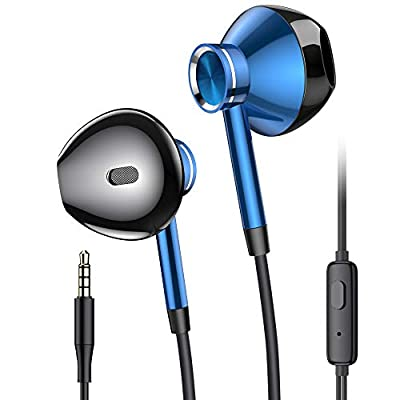Earphones with Mic, PRO-ELEC Headphone In Ear Earphones Wired 3.5mm Jack Earbuds Headphones with Pure Sound and Heavy Deep Bass for iPhone, iPod, iPad, Samsung - Black by PRO-ELEC