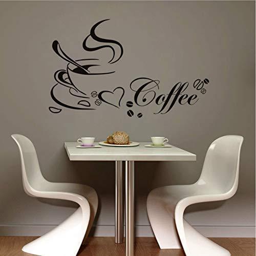 Taza De Café Calcomanía De Pared De Vinilo Oferta Decoración Del Hogar Sala De Estar Cocina Arte De Bricolaje Mural Extraíble Etiqueta De La Pared 65X40Cm