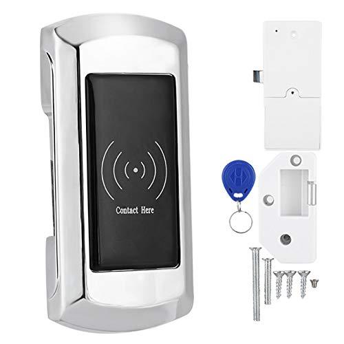 Cerradura de gabinete, alarma de bajo voltaje con tarjeta de acceso, cerradura electrónica de plata segura, aleación de zinc inteligente para taquillas de sauna, taquillas de natación