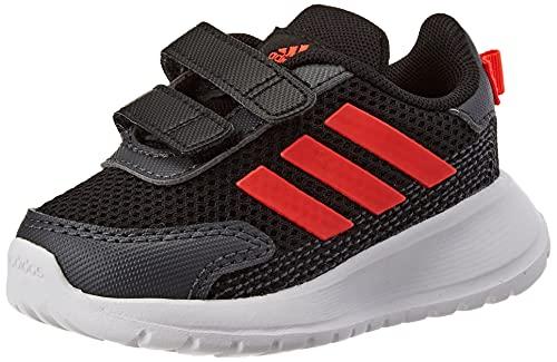 adidas TENSAUR Run I, Scarpe da Ginnastica, Core Black/Solar Red/Grey Six, 27 EU