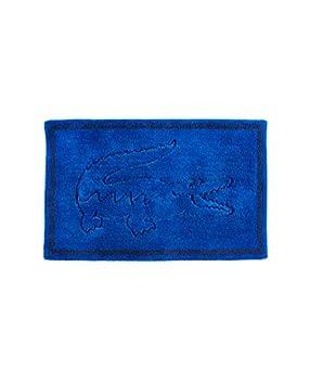 Lacoste Legend 100% Cotton Bathroom Rug 20  W x 32  L Surf Blue