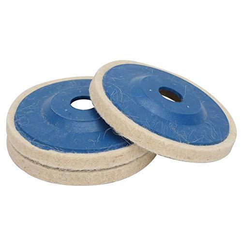 Rueda de lana en ángulo práctica popular Rueda de pulido de lana Disco de fieltro Herramienta de pulido de pulido 4 pulgadas 3 piezas