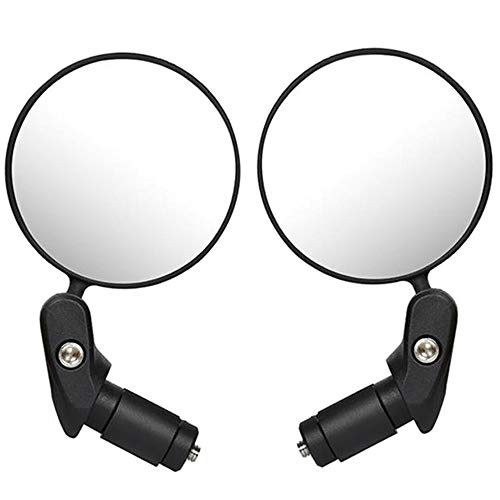 Qiwenr 2Pcs Fahrrad Rückspiegel,Lenker Fahrradspiegel 360° Drehspiegel Fahrradspiegel Bicycle Mirror,für 17,4-22 mm Flacher Lenker Drehspiegel Lenkerspiegel für Fahrrad(Schwarz)