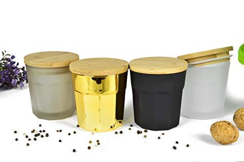 Sendez 4 Bunte Vorratsdosen Set mit Deckel Vorratsbehälter Vorratsdose Vorratsgläser aus Glas