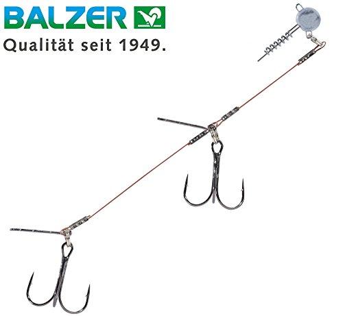 Balzer Shirasu Gummifisch System mit Screw Jighead - Schraubkopf für Gummiköder & Jigs, Gummifischsystem, Gummifischmontage, Gewicht/Länge/Hakengröße:10g - 14cm - Gr. 1/0