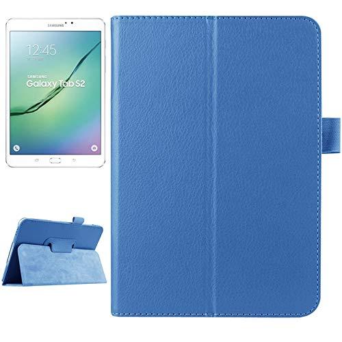 WEI RONGHUA Fundas de Tableta Funda de Cuero Litchi Textura con diseño Vuelta Horizontal Color Pura Elegante con Dos Plegables y función de suspensión/Reposo for Samsung Galaxy Tab S2 8.0 / T715