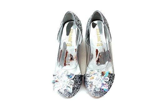 ELSA & ANNA Buona qualità Ragazze Ultimo Design Principessa Regina delle Nevi Gelatina Partito Scarpe Sandali SIL15-SH (SIL15-SH, Euro 28-Lunghezza 18.7cm)
