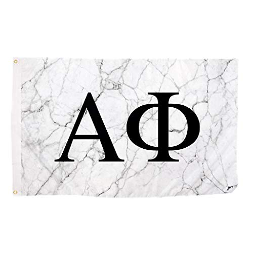 Desert Cactus Alpha Phi Sorority Letter Flag Banner 3 feet x 5 feet Sign Decor A Phi - Light Marble