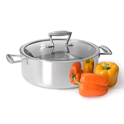 1 Tier Stainless Steel Induction Pans with Advanced 3-Layer Construction and Heat-Resistant Handles ProCook Elite Tri-Ply Steamer Set 20cm