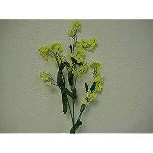 18″ Bouquet 12 Sprays Yellow Gypsophila Baby Breath Filler Artificial Silk Flowers LivePlant