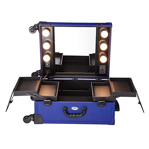 Maleta Profesional Caja de carro de maquillaje de belleza, carro de viaje, bolsa de cosméticos, organizador con ruedas, caja de tocador, maleta de equipaje para peluquero, artista de uñas