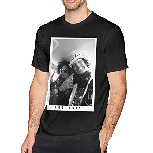 xiaojun Les Twins 2 Pullover Hoodie -(1) Short Sleeve T Shirts for Men Black