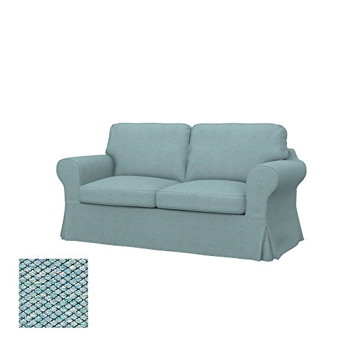 Soferia Bezug fur IKEA EKTORP 2er-Bettsofa, Stoff Nordic Sea Green