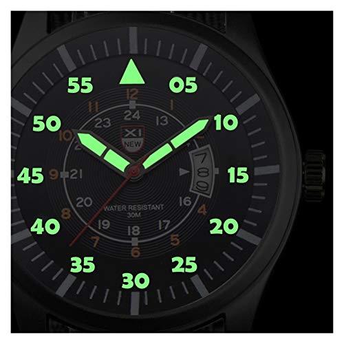 Chenhan Clásico MERSCA Hombre MERTENOS Reloj DE Armario del Armario Black DIAL Fecha RELAJE DE Lujo DE Lujo para los Hombres (Color : 1)