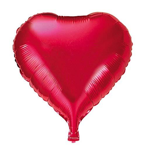 Para Aniversario De Boda Bollons | Ducha Globo Del Corazón Del Día Feliz Cumpleaños Con Descuento De Decoración De La Boda 10pcs Hoja Hincha De San Valentín Partido Hincha A La Muchacha, Rojo, 18inch