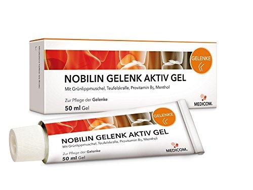 MEDICOM NOBILIN GELENK AKTIV GEL 4x50 ml mit Teufelskralle & Panthenol - Kühlgel, Gelenksalbe für Gelenke und Muskeln