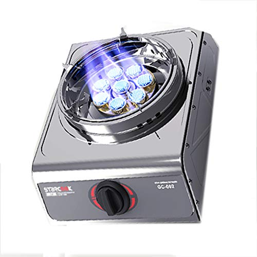 Brûleurs de Table de Cuisson en Acier cuisinière à gaz de Camping Portable réglable cuisinière à gaz à brûleur Unique système d'allumage Automatique