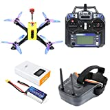 FEICHAO Owl215 Wheelbase 215mm FPV Racing Drone DIY RC Drone Quadcopter PNP BNF RTF with F4 Flight Controller 1200TVL FPV Camera VTX (FPV Goggles Version)