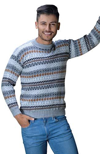 Gamboa Alpaka-Pullover für Männer Hellgrauer Pullover - Salta