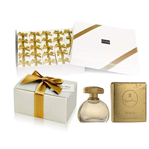 Pack 24 mini perfumes de mujer como detalles de boda para invitados Tous Touch Eau de toilette 4 ml. original