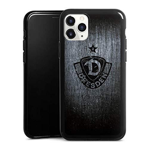 Silikon Hülle kompatibel mit Apple iPhone 11 Pro Case schwarz Handyhülle SG Dynamo Dresden Offizielles Lizenzprodukt Vintage