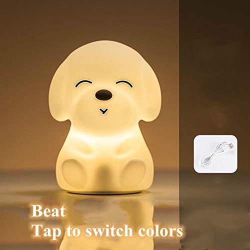 Silikon Touch Sensor LED Cartoon Nachtlicht Fernbedienung 7 Farben Lampe USBRechargeable Schlafzimmer Nachttischlampe für Kinder Baby