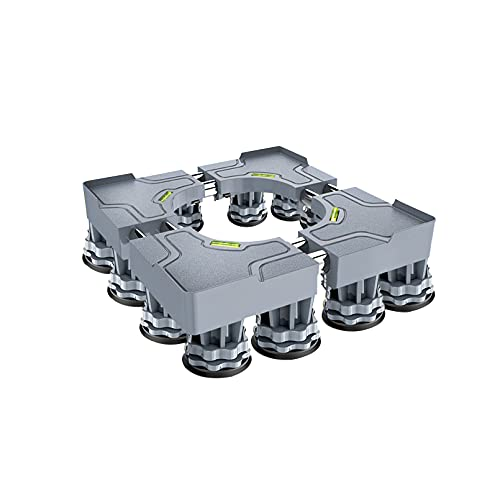 YiHYSj Base Lavadora Ajustable Largo/Ancho 44-68cm Pesado Soporte para Secadora y Refrigerador Pedestal y Marco para Neveras Altura 10-14cm Base Mueble Lavavajillas (8/12 Pies Fuertes) (12Legs)
