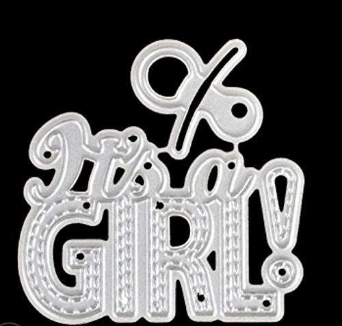 RKZM DIY koolstofstaal mes vorm handmatig reliëf album decoratief snijsjabloon letters jongen meisjes mes vorm metaal stansvormen 5,5 x 5 cm