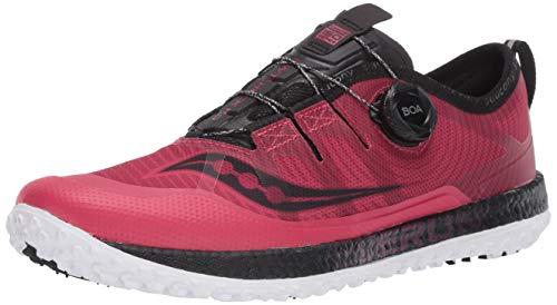 Saucony Women's Switchback ISO Walking Shoe, Barberry/Black, 10.5 M US
